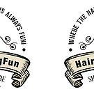 HaircuttingFun.com Logo on Mugs by KatSurth