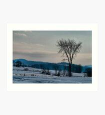 Berkshire Landscape Scene Art Print