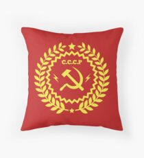 Communism Symbol Hammer and Sickle Throw Pillow