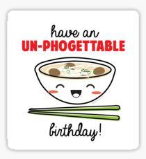 Un-Phogettable Birthday Sticker