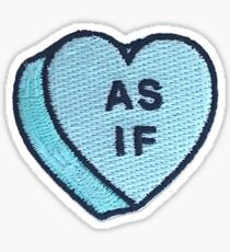 As If Candy Heart Patch Sticker