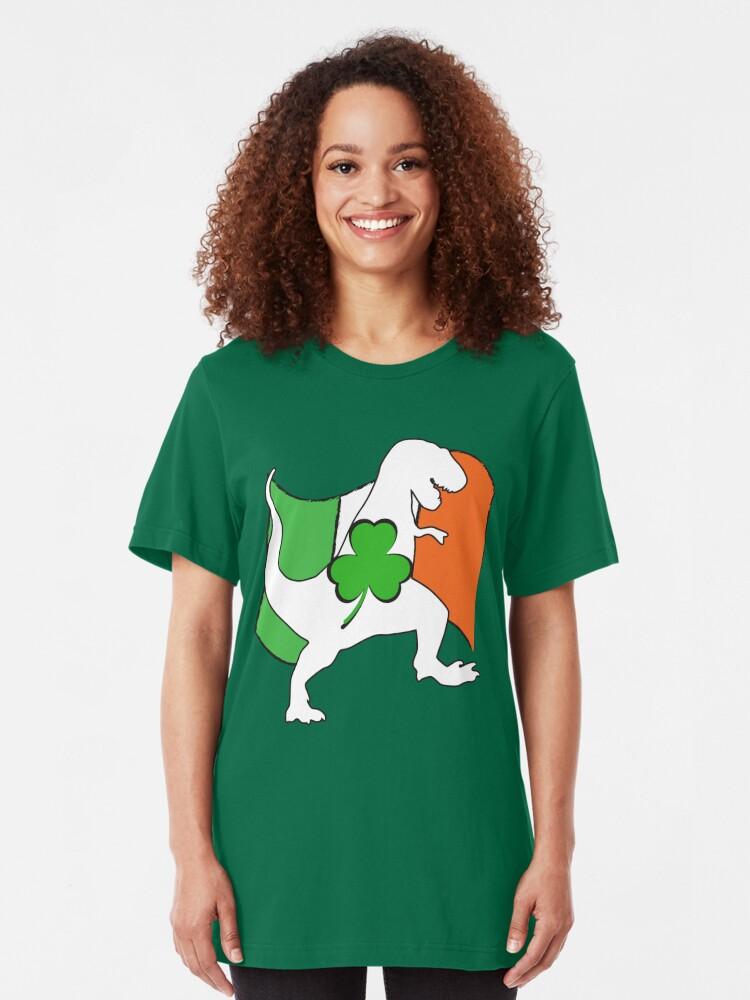 Irish T-Rex Dinosaur Clover St Patrick/'s Day Gift Toddler//Infant Kids T-Shirt