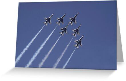 Townsville Air Show 2009 - USAF Thunderbirds #2 by Paul Gilbert