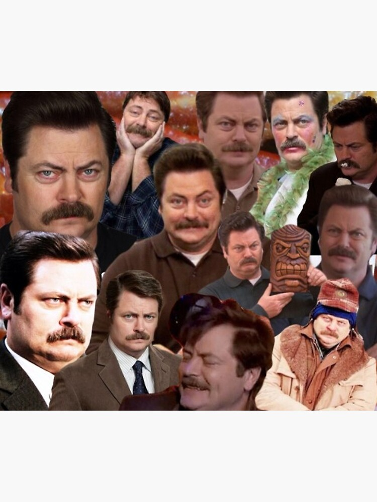 Ron Swanson Collage  by prodesigner2