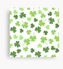 Seamless vector shamrock background for St. Patricks Day Canvas Print