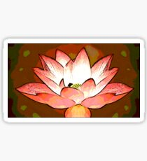 Playful Lotus Sticker