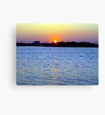 Sunset Over Barnegat Bay in Ortley Beach, NJ Canvas Print