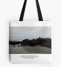 Absence to Love, Solitude at Goose Rocks Beach, York, Maine Tote Bag