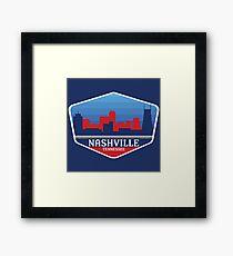 Nashville State Color Badge Framed Print
