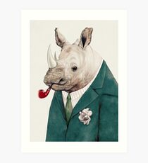 Rhinoceros Green Art Print