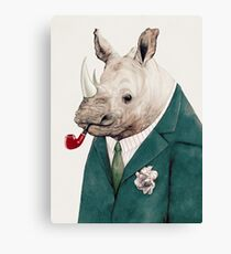 Rhinoceros Green Canvas Print