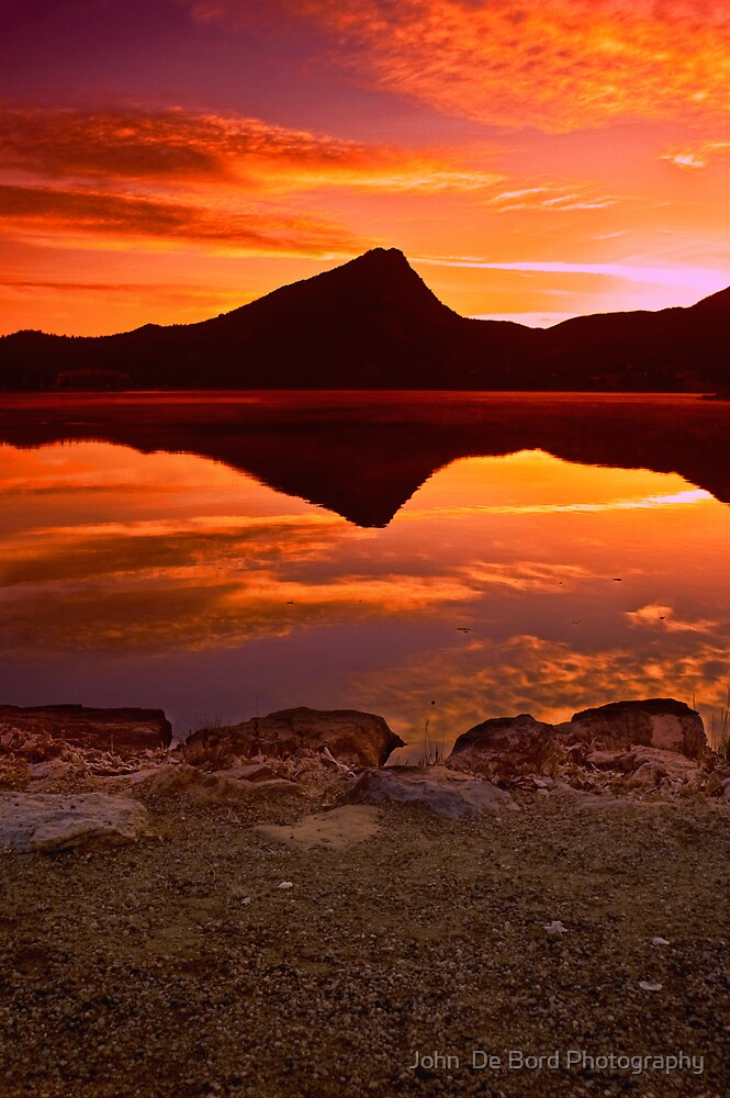 A Fiery Dawn by John  De Bord Photography