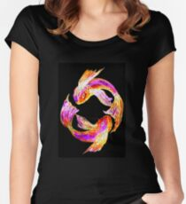 Night 'Tails' - Koi Women's Fitted Scoop T-Shirt