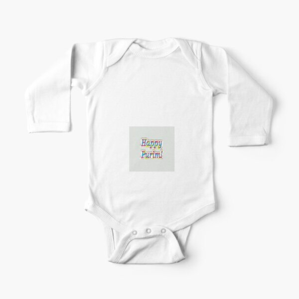 Jewish,  Happy Purim! Long Sleeve Baby One-Piece