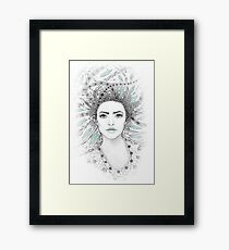 Beautiful forest woman Framed Print