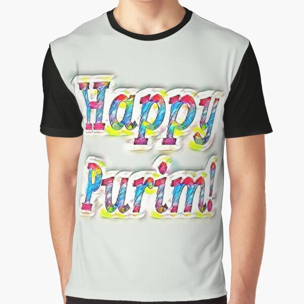 Jewish,  Happy Purim! Graphic T-Shirt