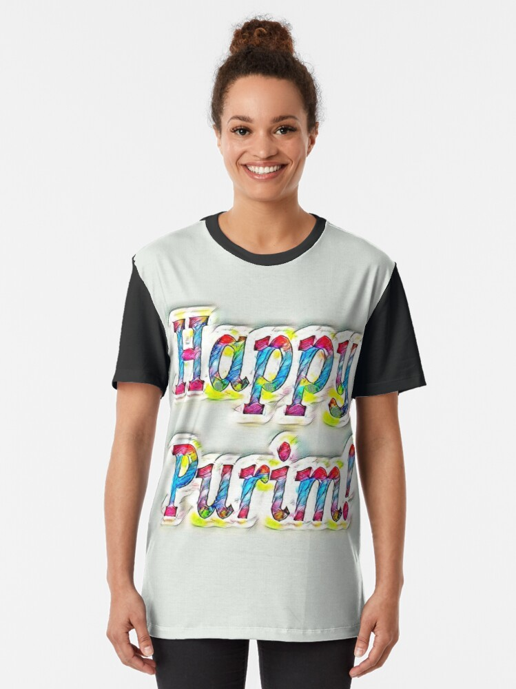 Alternate view of Happy Purim! Graphic T-Shirt