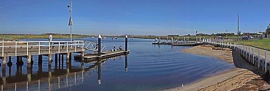 Werribee River - Boat ramp by Paul Gilbert