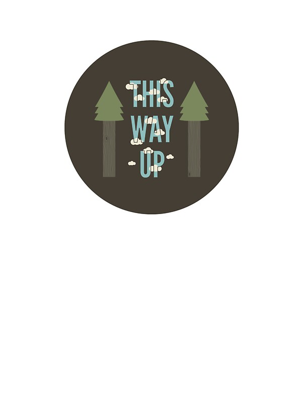 """""""This Way Up"""" Stickers by wordquirk 
