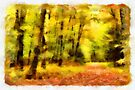 Autumn path - watercolour by PhotosByHealy