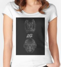 DAFT PUNK ANATOMY Women's Fitted Scoop T-Shirt