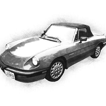 1986 Alfa Romeo Spider Quadrifo Glio Pininfarina by TortillaChief