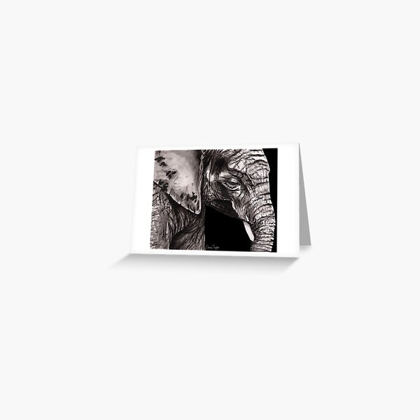 Elephant Print Greeting Card