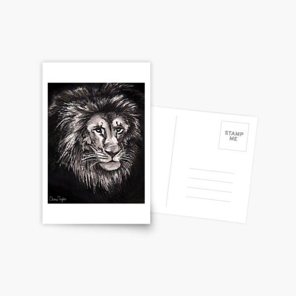 Lion Print Postcard
