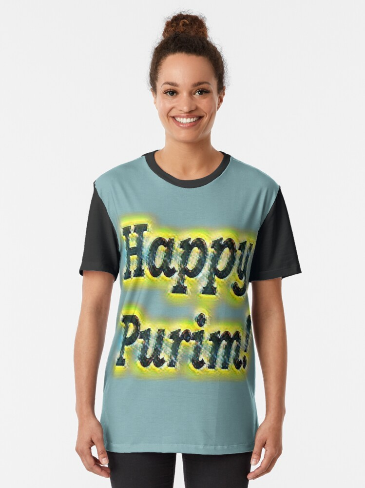 Alternate view of Happy!  Graphic T-Shirt