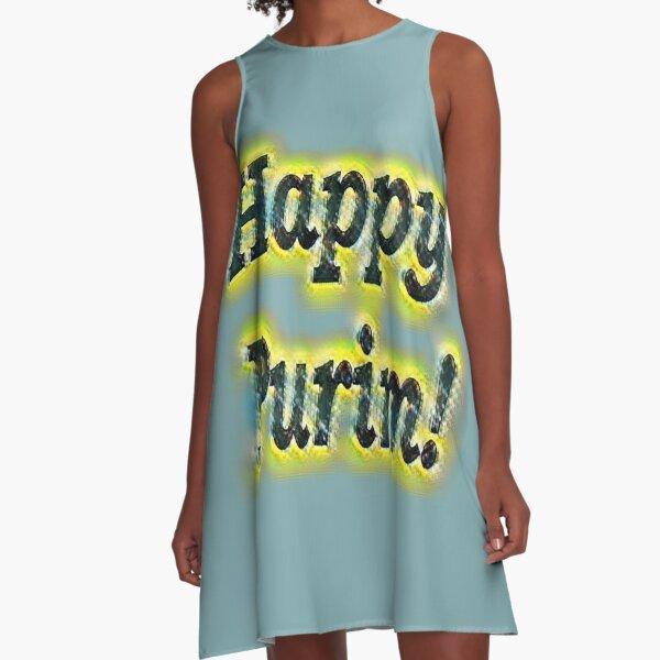 Happy!  A-Line Dress
