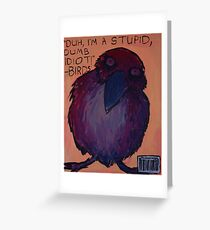 Jerk Bird Greeting Card