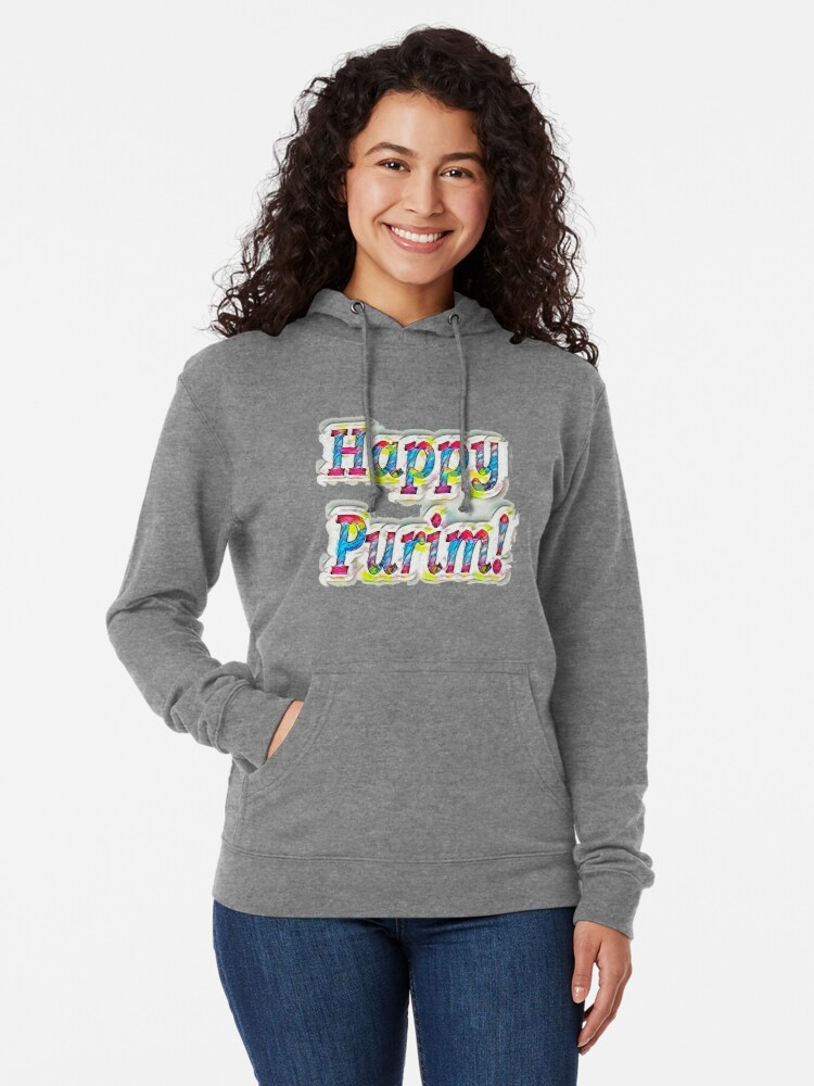Alternate view of Happy Purim! Lightweight Hoodie