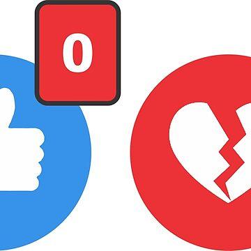social media broken heart by sepiastudyo
