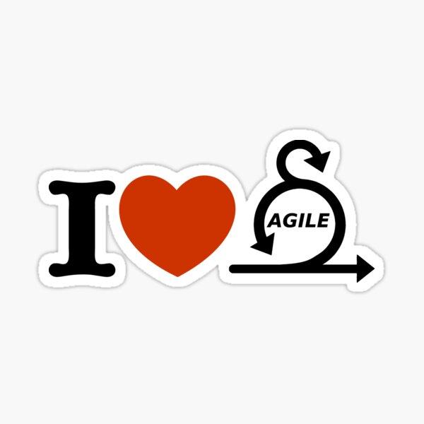 I love agile Sticker
