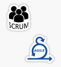 Scrum Agile set Sticker