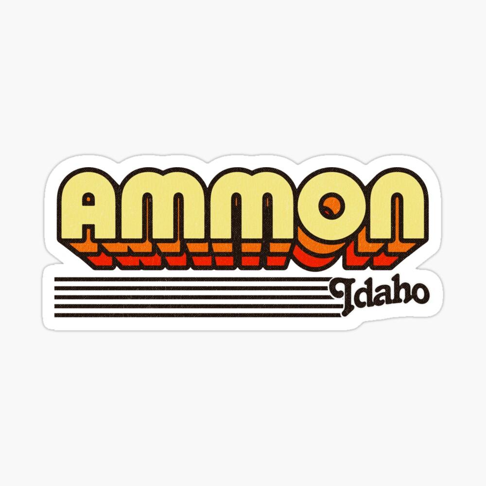 Ammon, Idaho | Retro Stripes Sticker