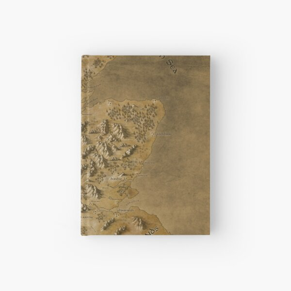 Map of Scotland Hardcover Journal
