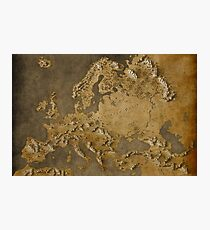 Map of Europe - Fantasy Theme Photographic Print