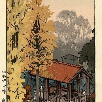 Hiroshi Yoshida - Ginkgoes in Autumn by CoppedFlack