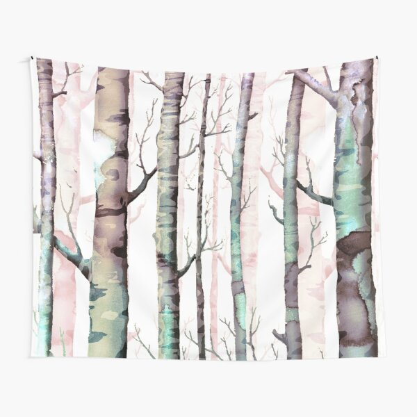 Brich Tree Forest Tapestry