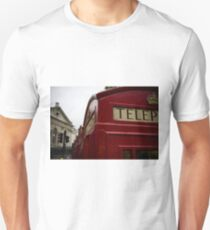 red phone booth Unisex T-Shirt