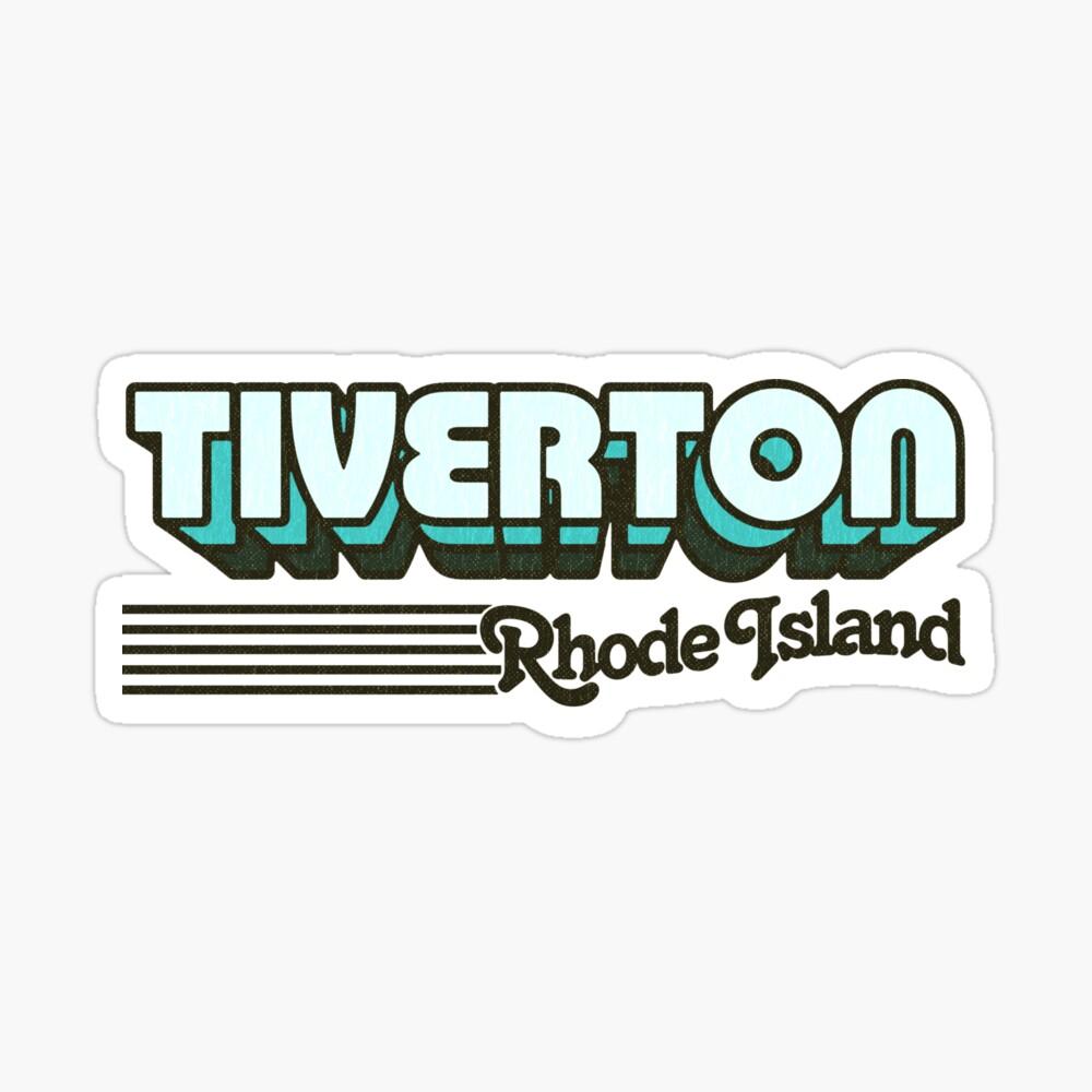 Tiverton, Rhode Island   Retro Stripes Sticker