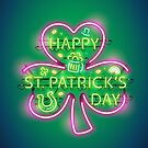 Happy St Patricks Day Neon Sign by Voysla