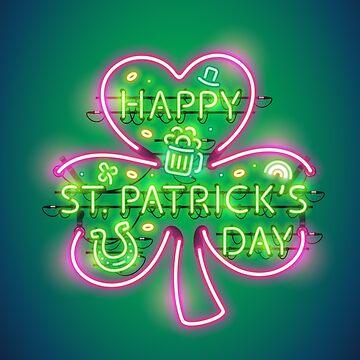 Happy St Patricks Day Neon Sign by Voysla