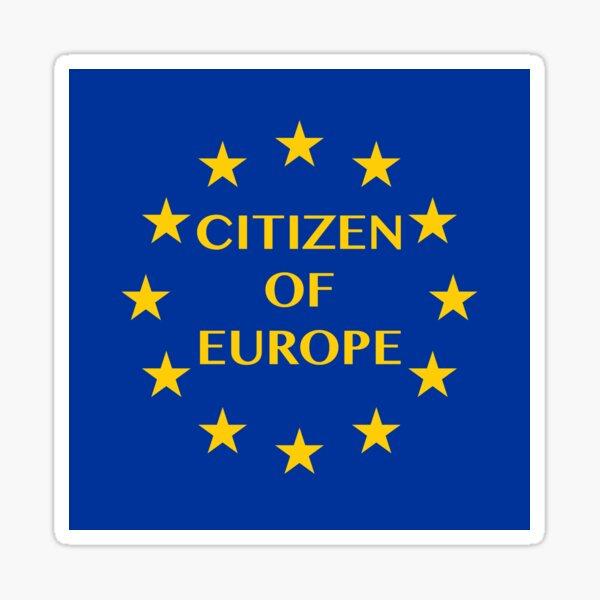 Citizen of Europe Sticker