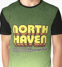 North Haven, Connecticut | Retro Stripes Graphic T-Shirt