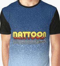 Mattoon, Illinois | Retro Stripes Graphic T-Shirt