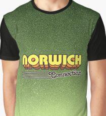 Norwich, Connecticut | Retro Stripes Graphic T-Shirt