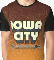 Iowa City, Iowa | Retro Stripes Graphic T-Shirt