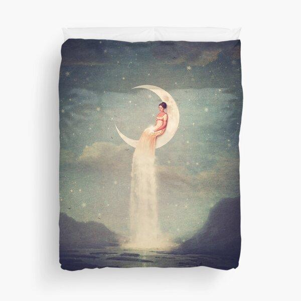 Moon River Lady Duvet Cover